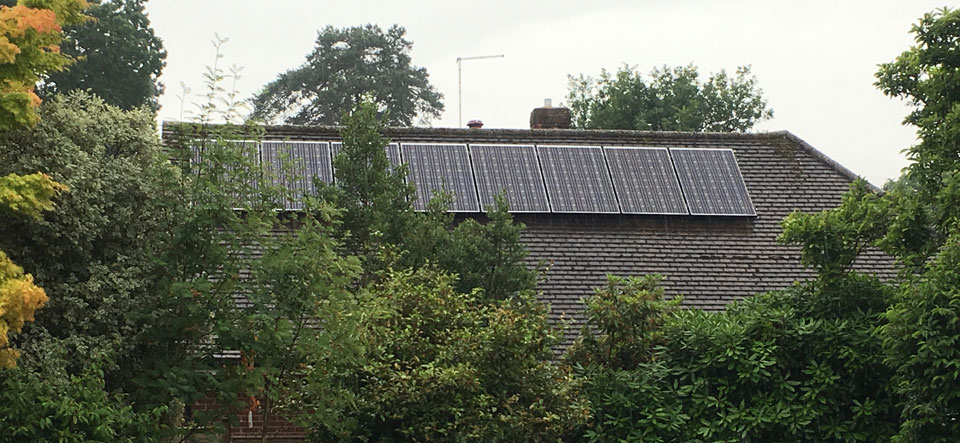 Storrington 4.8kW solar panel installation by Wagner Renewables