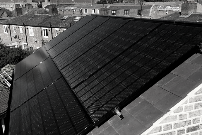 solar panels in black and white | Wagner Renewables