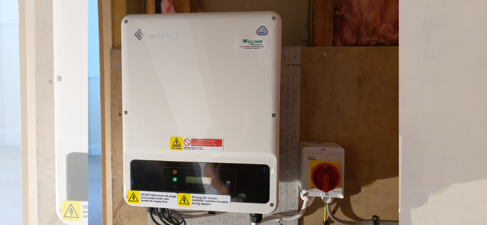 Inverter for solar PV installation in Middleton-On-Sea | Wagner Renewables